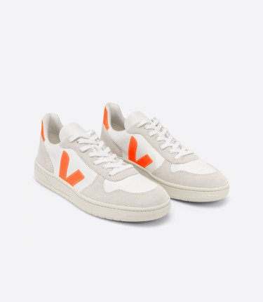 V-10 B-MESH WHITE NATURAL ORANGE FLUO