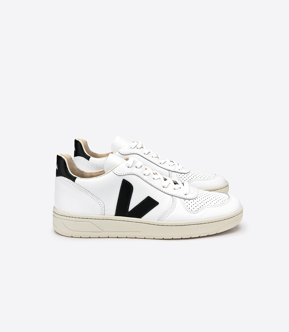 V 10 Leather Extra White Black | Lulushop